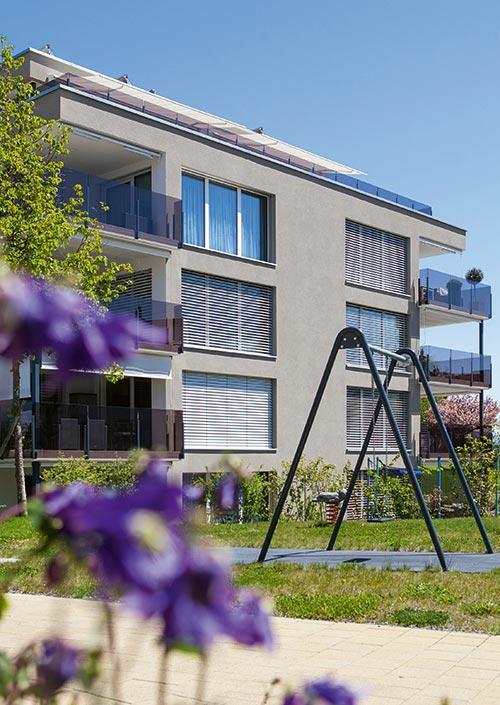 Mehrfamilienhaus mit Atmoshaus bauen