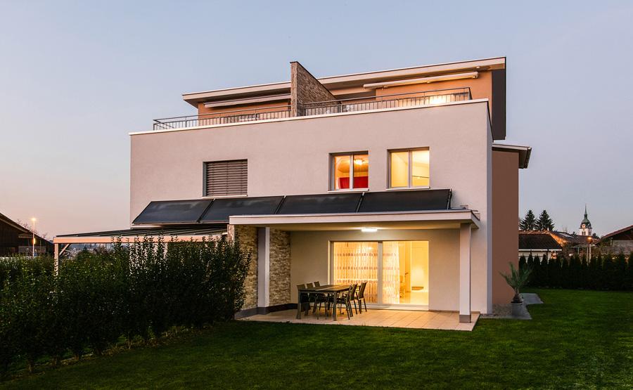 Doppeleinfamilienhaus mit Pultdach
