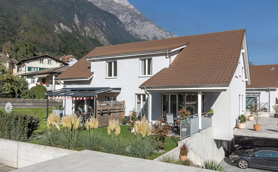 Doppelhaus mit Satteldach