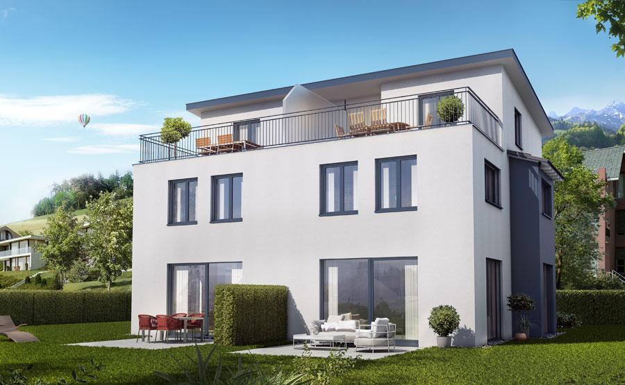 Doppeleinfamilienhaus mit Attikageschoss